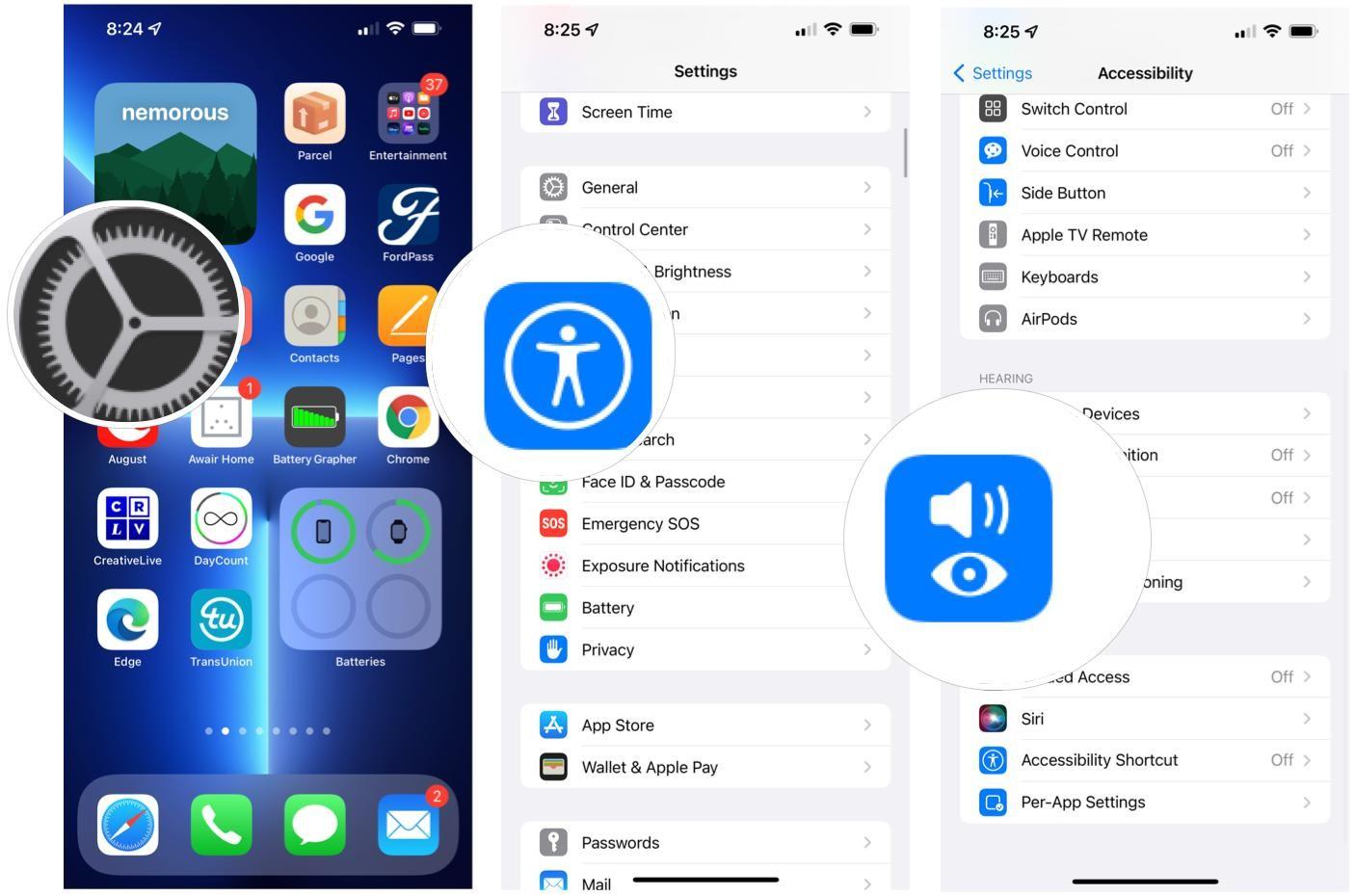 فعال کردن صدای پس زمینه در iOS 15